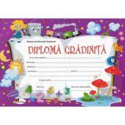 Diploma gradinita - Format A4, model imagine trenulet