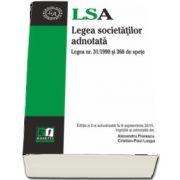 Legea societatilor adnotata. Editia a II-a, actualizata la 9 septembrie 2015