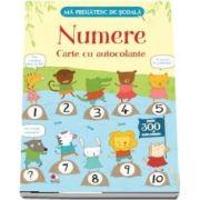 Numere. Carte cu autocolante