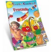 Fructele. Carte de colorat