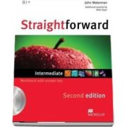 Straightforward 2nd Edition Intermediate Level Workbook with key and CD Pack