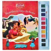 Disney. Elena din Avalor. Sa pictam cu Elena din Avalor. Carte de colorat cu pensula si acuarele
