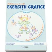 Arlechino ne invata exercitii grafice. Caiet de lucru pentru 5-6 ani - Valentina Nicolae