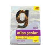 Atlas scolar. Elemente de geografie umana. Geografia Europei pentru clasa a VI-a de Ionut Popa si Marian Ene