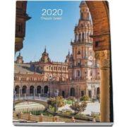 Calendar 2020 de perete cu orase - Cu spira alba si agatatoare