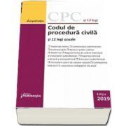 Codul de procedura civila si 12 legi uzuale. Actualizat la 1 septembrie 2019
