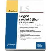 Legea societatilor si 8 legi uzuale. Actualizata 18 septembrie 2019