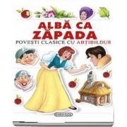 Povesti clasice cu abtibilduri - Alba ca zapada