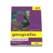 Geografie, caietul elevului pentru clasa a VI-a (Carmen Camelia Radulescu)