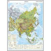 Asia. Harta economica 1000x1400 mm