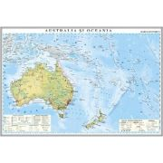 Australia si Oceania. Harta economica 1400x1000 mm