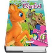 Bambi cu 6 puzzle-uri - 6 pagini frumos ilustrate si 6 puzzle-uri a cate 6 piese fiecare