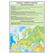 Plansa Europa. Forme de relief