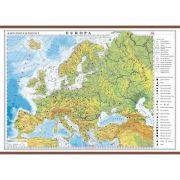 Europa. Harta fizica si politica 1400x1000 mm