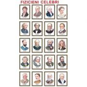 Fizicieni celebri, set de 20 portrete color, inramate
