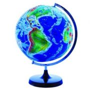 Glob 3D. Lumea fizica in relief, in limba engleza