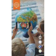 Glob geografic in relief de 25cm cu interactivitate VR