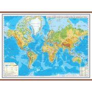 Harta fizica a lumii 1600x1200 mm