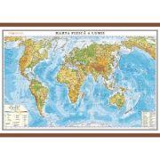 Harta fizica a lumii 700x500 mm
