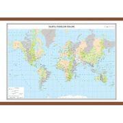 Harta fuselor orare 1400x1000 mm