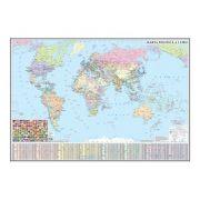 Harta politica a lumii 1600x1200mm, fara sipci
