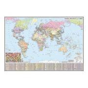 Harta politica a lumii. Harta de contur, 600x470 mm, fara sipci
