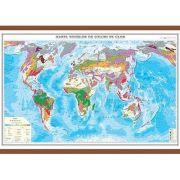 Harta zonelor de soluri pe glob 1400x1000 mm