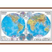 Planiglobul. Harta Emisferelor 1400x1000 mm