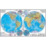 Planiglobul.Harta Emisferelor