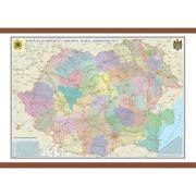 Romania si Republica Moldova. Harta administrativa 1000x700 mm
