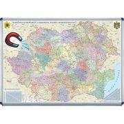 Romania si Republica Moldova. Harta administrativa 1000x700mm