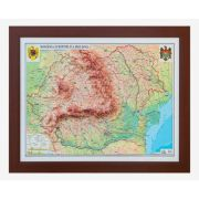 Romania si Republica Moldova. Harta fizica si administrativa model 3D, 600x470mm