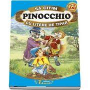Sa citim Pinocchio cu litere de tipar 3-5 ani
