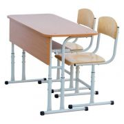 Mobilier scolar dublu cu inaltime reglabila RK