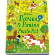 Horses and ponies puzzles pad