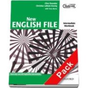 New English File: Intermediate: Workbook with MultiROM Pack : Six-level general English course for adults