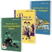 Colectia de autor Mark Twain - Aventurile lui Huckleberry Finn, Aventurile lui Tom Sawyer, Print si cersetor