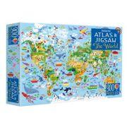 World atlas and jigsaw
