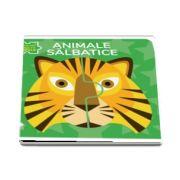 Animale salbatice. Prima mea carte cu puzzle