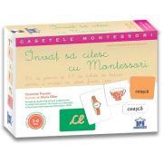 Invat sa citesc cu Montessori: 84 de Jetoane si 51 de tichete de lectura pentru a invata sa citesti foarte usor