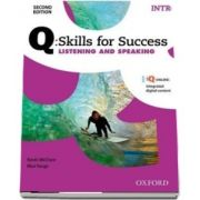 Q Skills for Success Intro Level. Listening and Speaking Student Book with iQ Online
