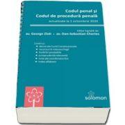 Codul penal si Codul de procedura penala. Actualizat la 1 octombrie 2020