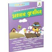 Carte de colorat si activitati cu semne grafice