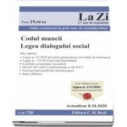 Codul muncii. Legea dialogului social. Cod 720. Actualizat la 8. 10. 2020