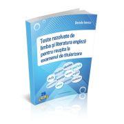 Teste REZOLVATE de limba si literatura engleza pentru reusita la examenul de titularizare