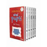 Jurnalul unui pusti, set cinci volume de Jeff Kinney