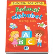 Animal alphabet. English for kids, carte de colorat