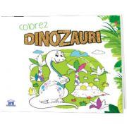 Colorez cu dinozauri.carte de colorat