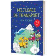 Mijloace de transport 4-5 ani. Carte de colorat