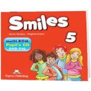Curs de limba engleza Smiles 5 Multi-rom, Jenny Dooley, Express Publishing